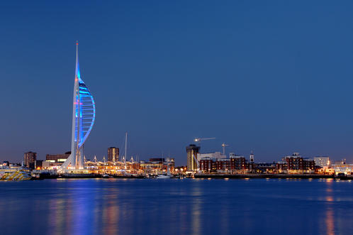 Continuum Group Ltd, The iconic Spinnaker Tower at sunset