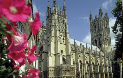 Canterbury Cathedral, It's starting to look like Spring in Canterbury.